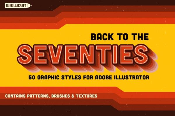 50 graphic styles for Adobe Illustrator
