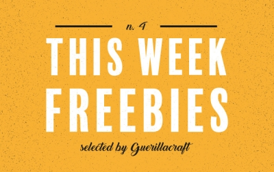 This Week freebies n.4 - freshest free design resources selected by Guerillacraft