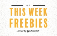 Freebies from fonts to graphics styles selected by Guerillacraft