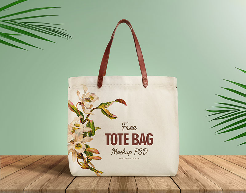 Free Cotton Bag Mockup. Just Place your graphics and save.