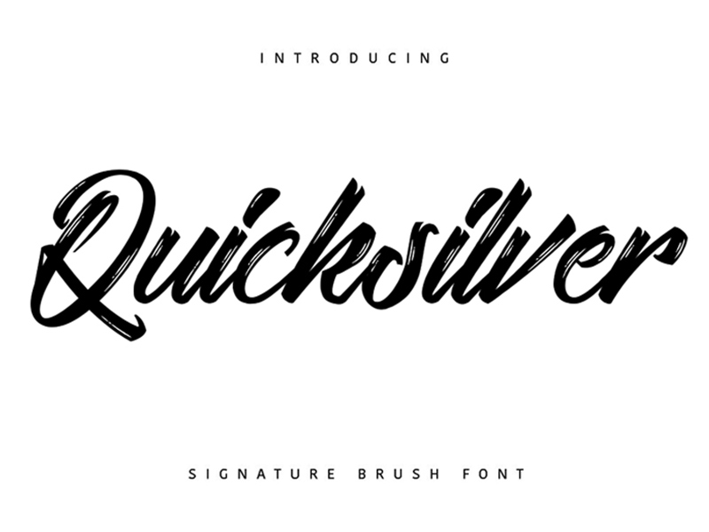 Quicksilver is a free brush script font