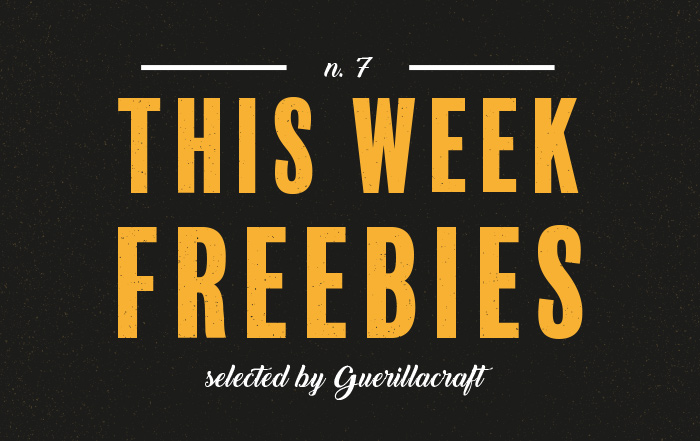 Freebies n. 7. Free Design Resources selected by Guerillacraft