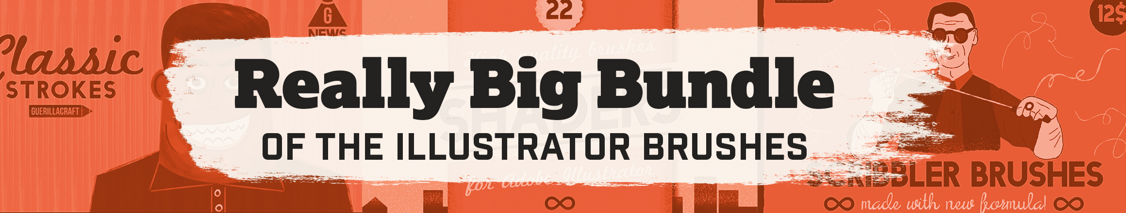 Big Bundle of Adobe Illustrator Brushes - Get 327 brushes for Adobe Illustrator for SALE PRICE NOW!