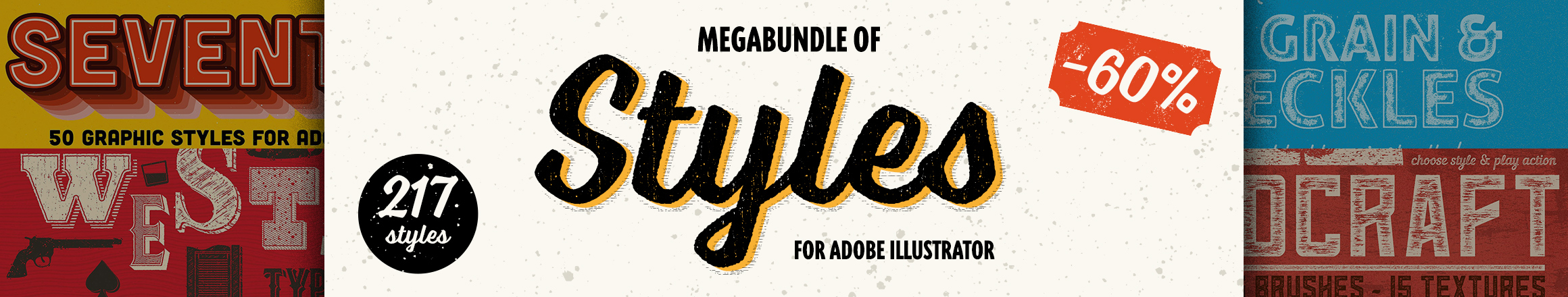 Megabundle of the Adobe Illustrator Styles