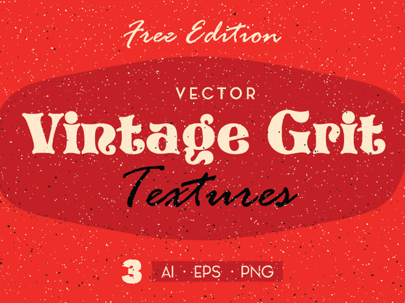 Into something Retro? Get this 3 Free Vintage Grit Textures and add this to your design to give it the retro vibes! Available in 3 file formats, EPS, AI and PNG that is very easy to use. So, this can be useful for background images, adding textures to your poster design, branding and packaging as well.