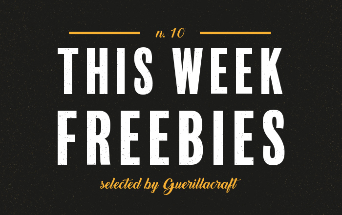 This Week Freebies N. 10 - Selection of the free design resources. Download free textures, brushes, patterns and many more. Selected by Guerillacraft