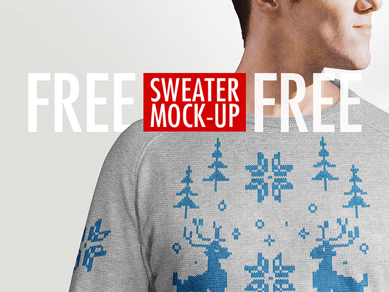 Free Sweater PSD Mock-up