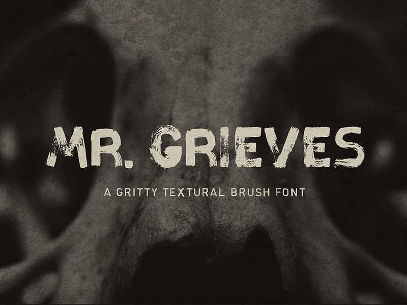 Mr. Grieves - Free Gritty Textural Font