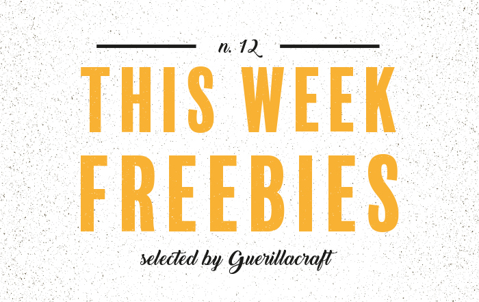 Freebies Selected by Guerillacraft - The Latest Free Design Resources for your next design project